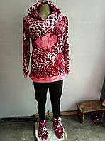 Пижамы, домашние костюмы с капюшоном исапожками, махра, размеры L- XXL до 50 размера