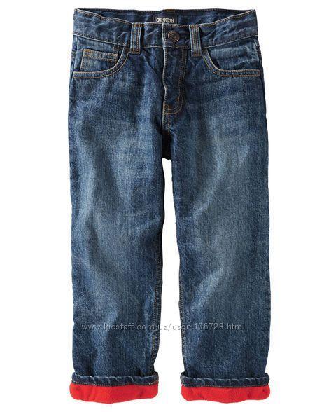 Утепленные стильные джинсы на флисе (Размер 8Т) OshKosh (США)