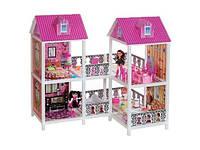 *Домик с мебелью для кукол типа Барби арт. 66890