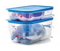 Набор контейнеров Умный Холодильник для мяса и рыбы 2 шт. (1,8/4,4л) Tupperware , фото 1