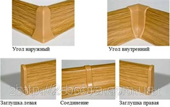 Фурнитура для Плинтуса Напольного Penates CLASSIC, 48 мм., фото 2