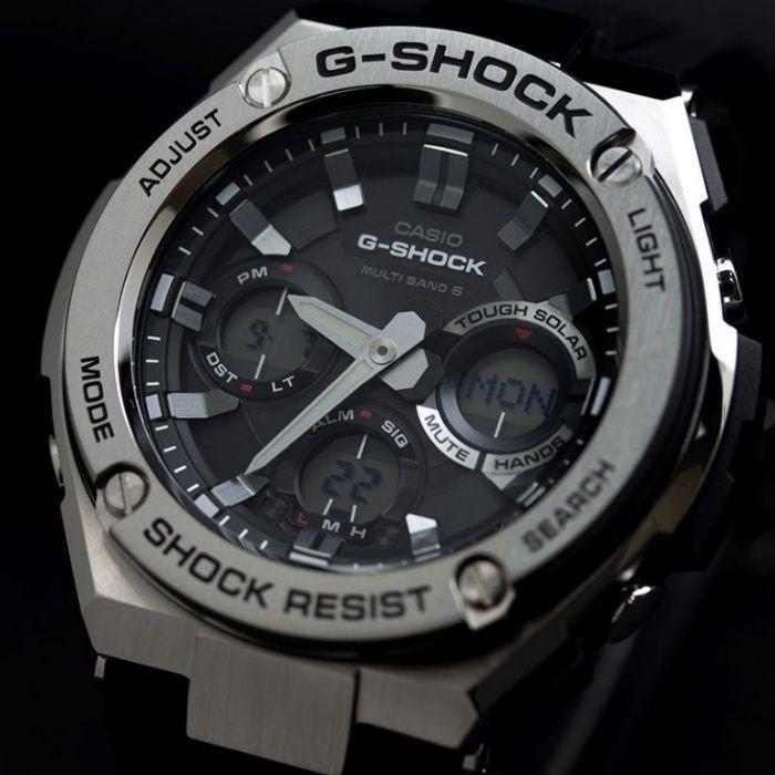 Наручные мужские часы Casio G-SHOCK ААА копияElit Стальной корпус