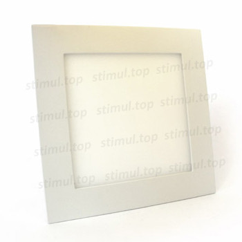 Светильник светодиодный точечный Down Light 12W Plastic квадратный белый свет