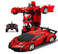Игрушка машинка трансформер робот на пульте управления автобот, фото 1