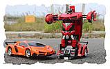 Іграшка машинка трансформер робот на пульті управління автобот, фото 4