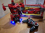 Іграшка машинка трансформер робот на пульті управління автобот, фото 6