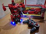 Игрушка машинка трансформер робот на пульте управления автобот, фото 6