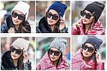 Женская вязаная шапка в расцветках, фото 2