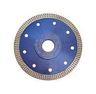 """Алмазный диск косичка для резки твердой керамики """"Proteco"""" 125x22 мм."""