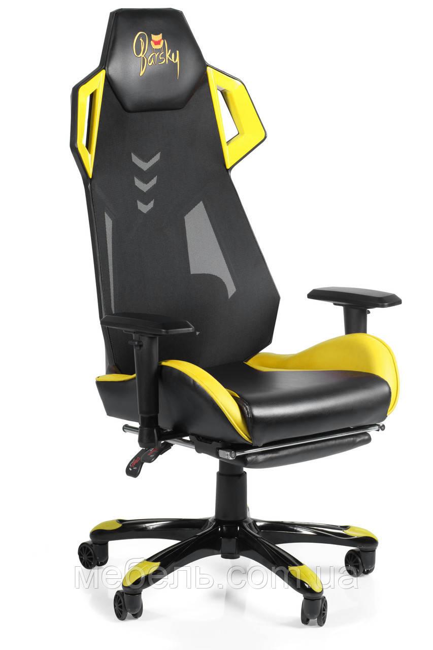 Детское компьютерное кресло Barsky BGM-06 черное с жёлтым