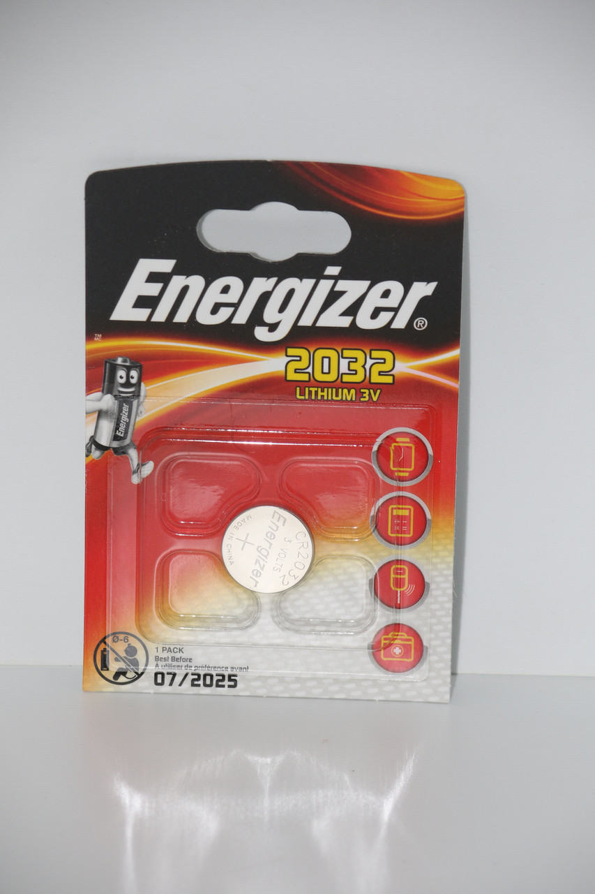 Батарейка для часов. Energizer CR2032 3.0V 200mAh 20x3.2mm. Литиевая