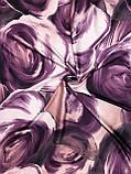 Шелковый фиолетовый платок с отделкой ручной работы 90х90см (цв.5), фото 2