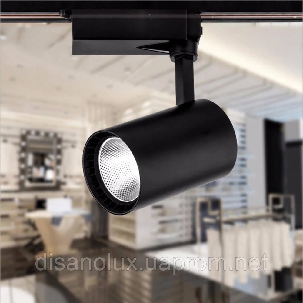 Светильник светодиодный трековый на шинопровод DL30-006 LED 30W 6500К  черный