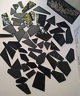 Дзеркальні пришивні стрази Black (чорні), мікс. 50 штук в уп., фото 1