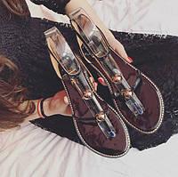 Легкие черные летние сандали для девушек