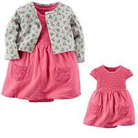 Комплект плаття-боді з кардіганом для дівчинки Carters трояндочки