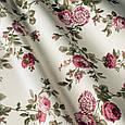 Ткань для штор с розами малиновый, фото 2