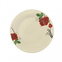 Тарелка 19 см роза-гербера (4611)