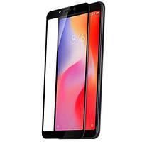 Защитное Стекло Full Glue Aspor- Samsung A605/A6 Plus(2018) -чёрный,  (техпак)