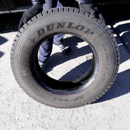 Шины б.у. 215.75.r17.5 Dunlop SP444 Данлоп. Резина бу для грузовиков и автобусов