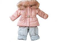 Зимний комплект (Куртка с нат. мехом + Полукомбинезон ) CEREMONY (р.80)
