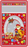 Новорічні пакети для цукерок і подарунків 20х35 (100шт.)
