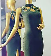 Женское бандажное платье