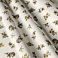 Ткань в стиле прованс с коричневыми розами, фото 2