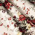 Ткань для штор розы красный  , фото 2