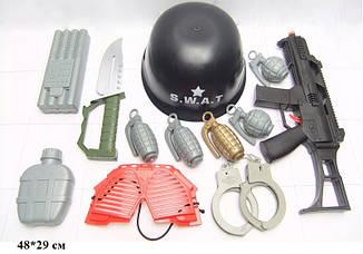Військовий дитячий набір 0055-J42 (60шт/2) з каскою в сітці 48*29 см