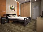 Кровать односпальная с натурального дерева в спальню/детскую ТИС АТЛАНТ 2 90*190 сосна, фото 5