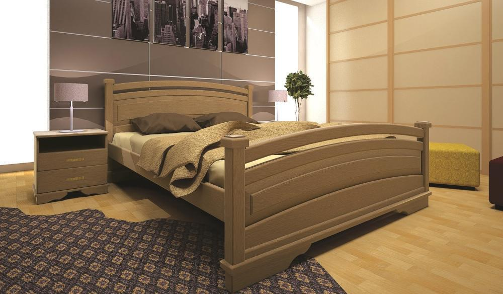 Кровать односпальная с натурального дерева в спальню/детскую ТИС АТЛАНТ 20 90*190 сосна