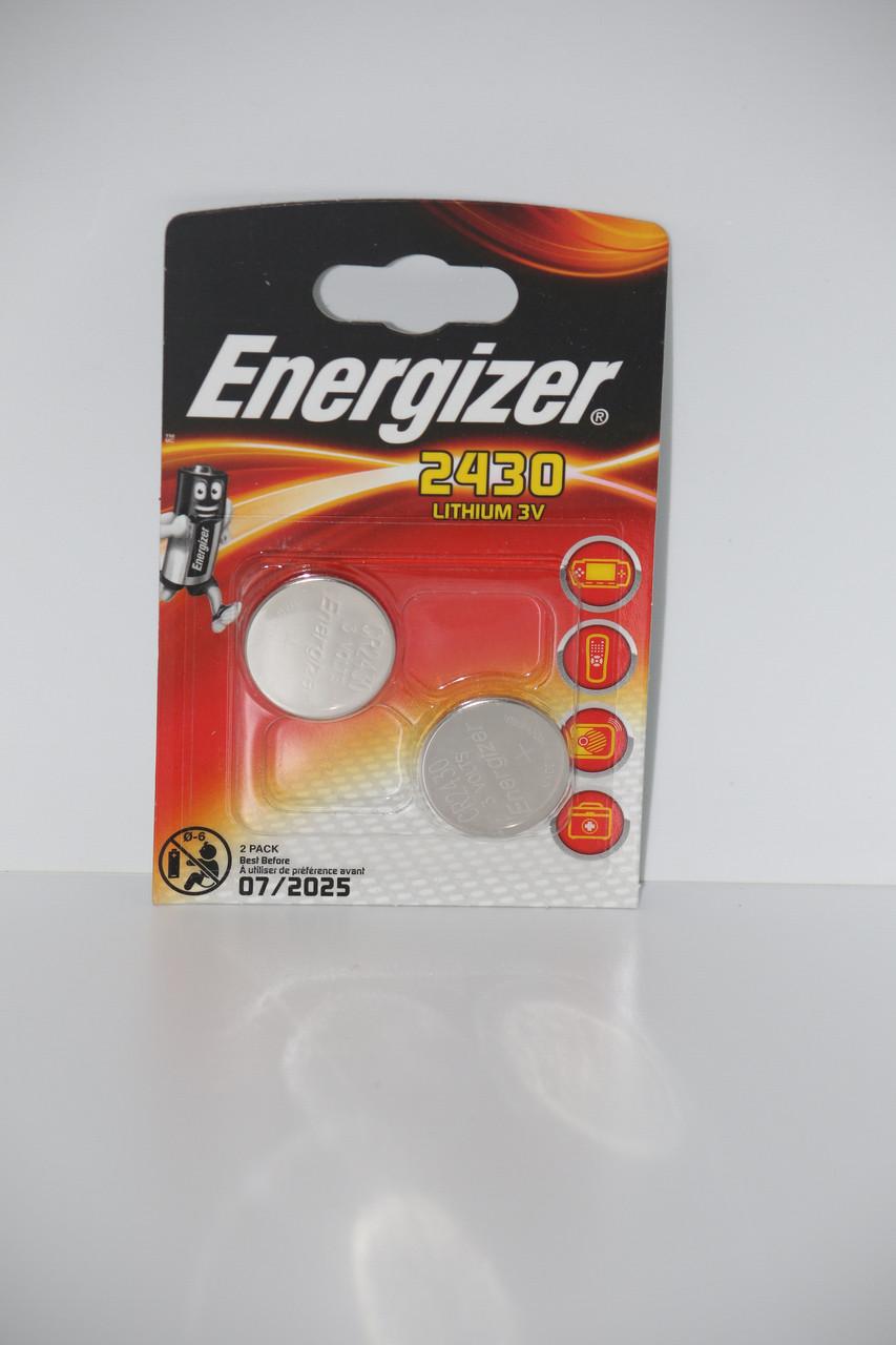 Батарейка для часов. EnergizerCR2430 3.0V 285mAh 24x3.0mm. Литиевая