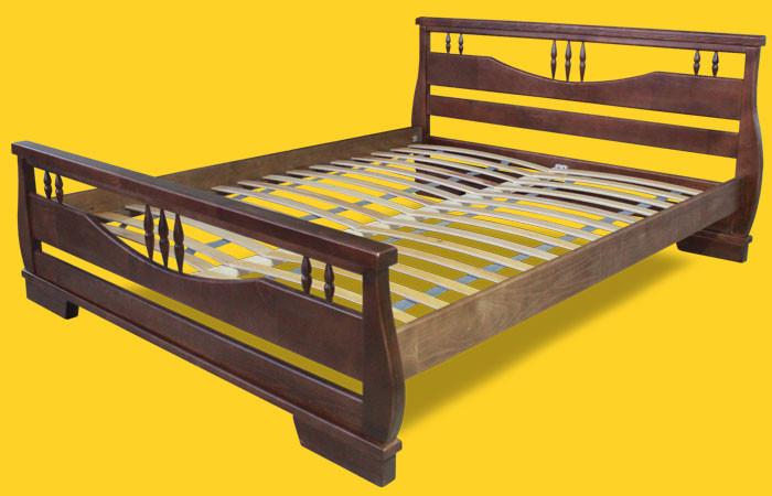Кровать односпальная с натурального дерева в спальню/детскую ТИС АТЛАНТ 3 90*190 сосна