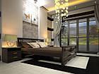 Кровать односпальная с натурального дерева в спальню/детскую ТИС АТЛАНТ 3 90*190 сосна, фото 2