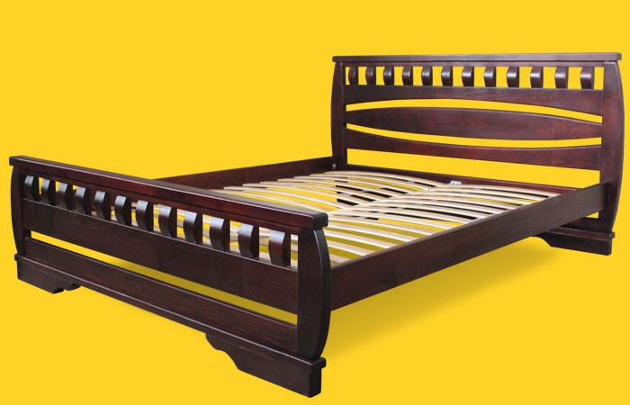 Кровать односпальная с натурального дерева в спальню/детскую ТИС АТЛАНТ 4 90*190 сосна