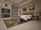 Кровать односпальная с натурального дерева в спальню/детскую ТИС АТЛАНТ 4 90*190 сосна, фото 2