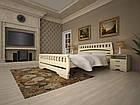 Кровать односпальная с натурального дерева в спальню/детскую ТИС АТЛАНТ 4 90*190 сосна, фото 3