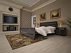 Кровать односпальная с натурального дерева в спальню/детскую ТИС АТЛАНТ 4 90*190 сосна, фото 5