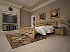 Кровать односпальная с натурального дерева в спальню/детскую ТИС АТЛАНТ 4 90*190 сосна, фото 6