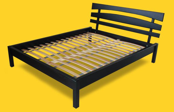 Кровать односпальная с натурального дерева в спальню/детскую ТИС ДОМІНО 3 90*190 сосна