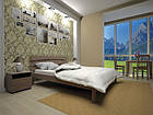 Кровать односпальная с натурального дерева в спальню/детскую ТИС ДОМІНО 3 90*190 сосна, фото 2