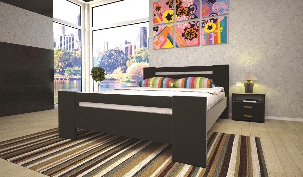 Кровать односпальная с натурального дерева в спальню/детскую ТИС ІЗАБЕЛЛА 1 90*190 сосна