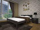 Кровать односпальная с натурального дерева в спальню/детскую ТИС КЛАСИКА 90*190 сосна, фото 3