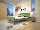 Кровать односпальная с натурального дерева в спальню/детскую ТИС МОДЕРН 6 90*190 сосна, фото 2