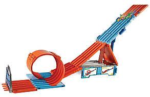 Трек Хот Вилс Коробка Трюки и гонки Экстремальные гонки Hot Wheels Track Builder Race Crate, фото 2