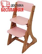 Зростаючий дитячий стілець (кольори: зелений, оранжевий, рожевий) Mobler с500-1