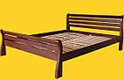 Кровать односпальная с натурального дерева в спальню/детскую ТИС РЕТРО 1 90*190 сосна, фото 2
