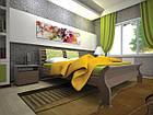 Кровать односпальная с натурального дерева в спальню/детскую ТИС РЕТРО 2 90*190 сосна, фото 2