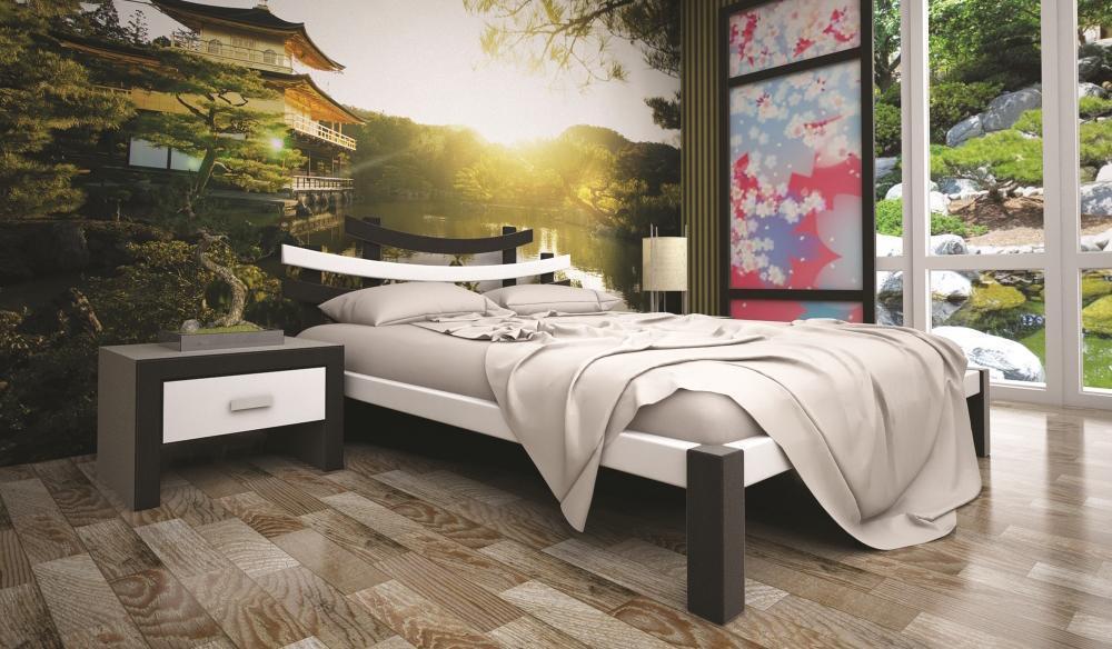 Кровать односпальная с натурального дерева в спальню/детскую ТИС САКУРА 2 90*190 сосна